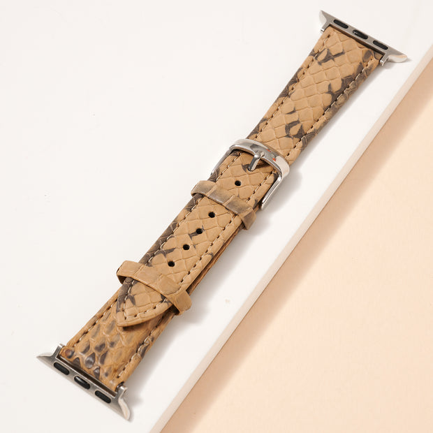 Snake Skin Embossed Leather iWatch Band Small 1