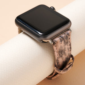 Snake Skin Embossed Leather iWatch Band Small