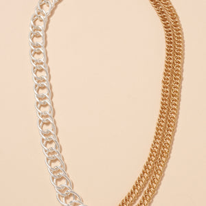 Chain Linked Metal Necklace