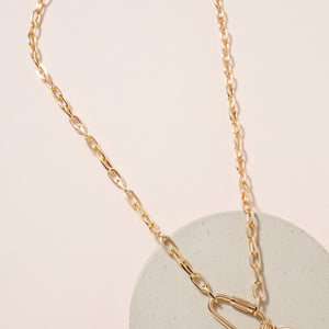 Rhinestones Charms Chain Linked Necklace