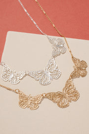 Butterfly Charms Metal Necklace