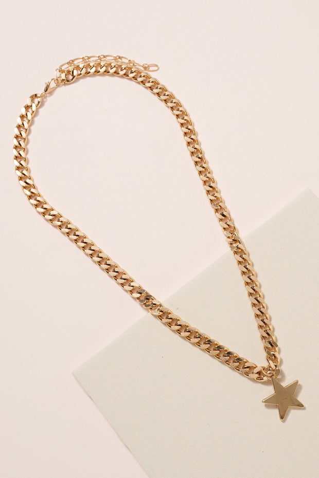 Star Charm Metal Chain Necklace