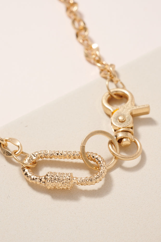 Lobster Clasp Lock Charms Necklace