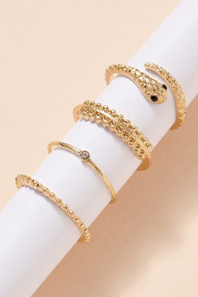 Snake Metal Rings Set
