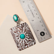 Handmade Western Turquoise Stone Earrings