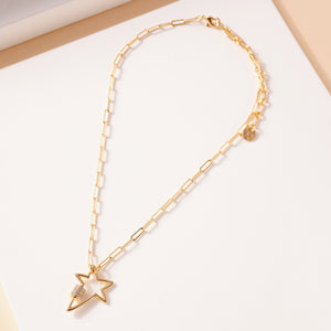 Star Charm Chain Linked Necklace