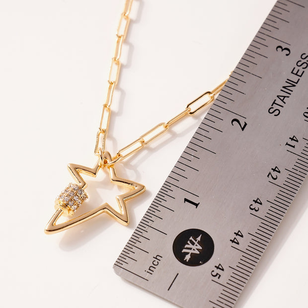 Star Charm Chain Linked Necklace 1