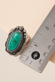 Western Style Turquoise Stretch Ring