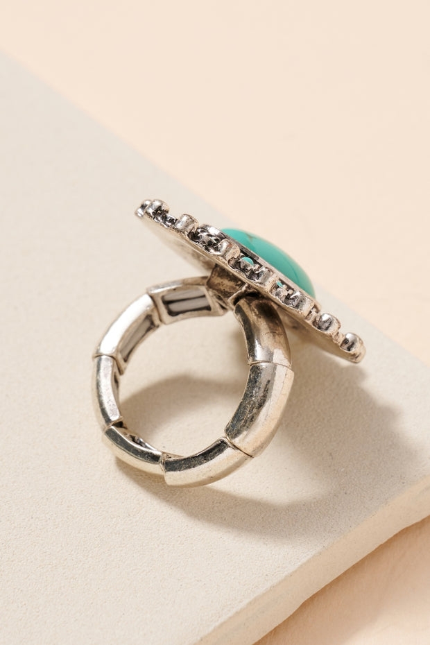 Western Style Natural Stones Stretch Ring