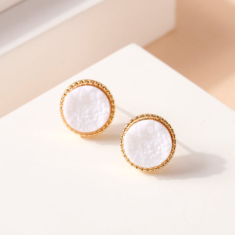 Druzy Stone Stud Earrings