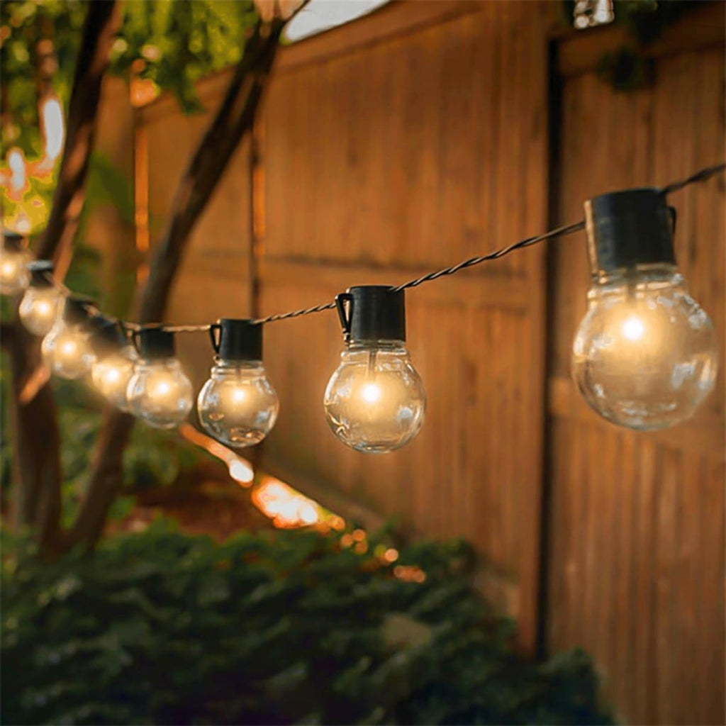 25FT Globe String Lights with Bulbs for Indoor/Outdoor Waterproof Connectable Hanging Lights for Backyard Porch Balcony Party Decor