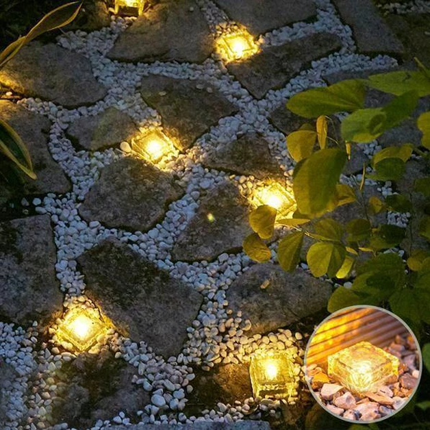 Solar-Powered Heavy Duty Brick Path Light - Heavy Duty Outdoor Lights!