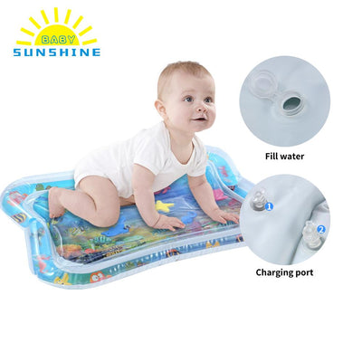 Inflatable Tummy Time Play Mat for Babies