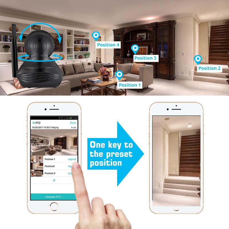 1080P HD Smart Indoor Wifi Security Camera w/ Microphone
