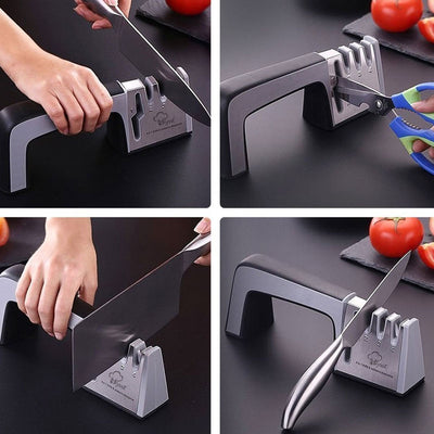 4 in 1 Stainless Steel Knife Sharpener