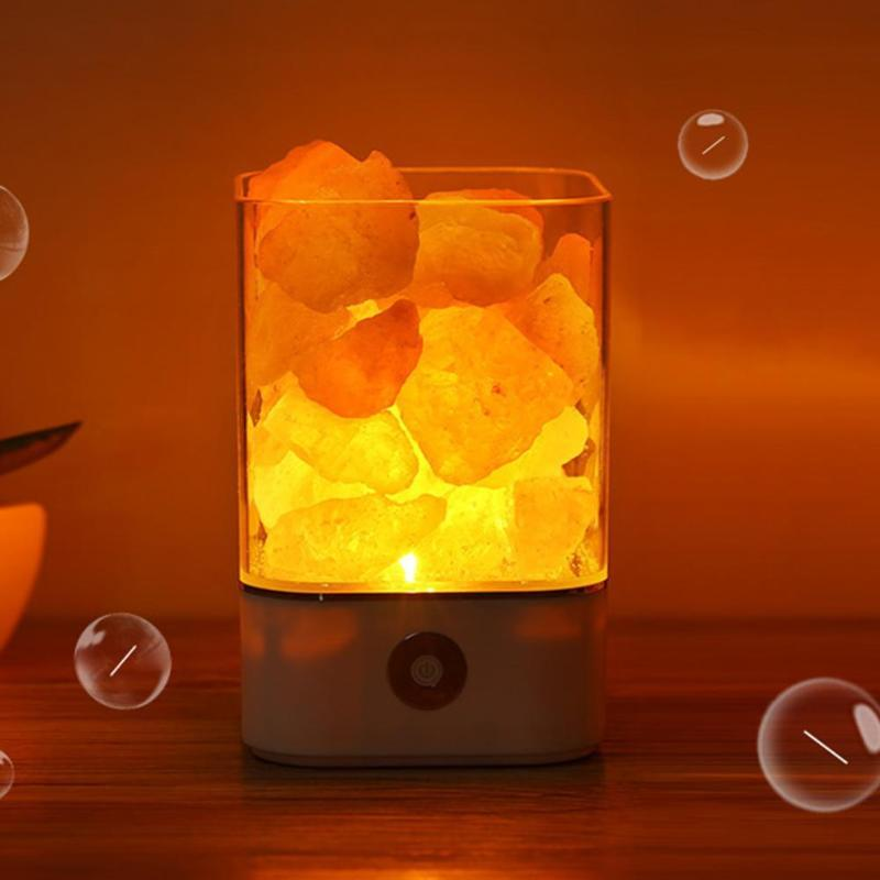 USB Crystal Lamp Air Purifier - (Natural Himalayan Salt)