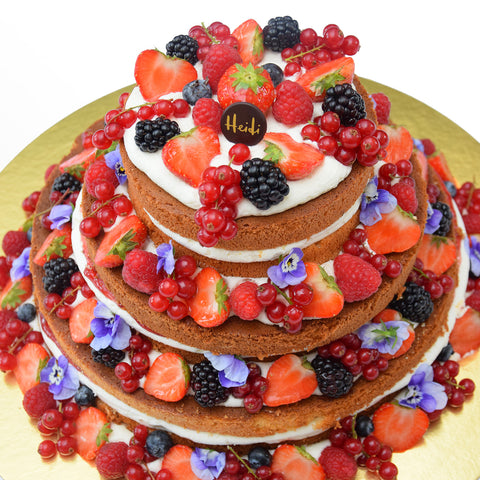 Tiered Vanilla & Fruit Sponge Cake