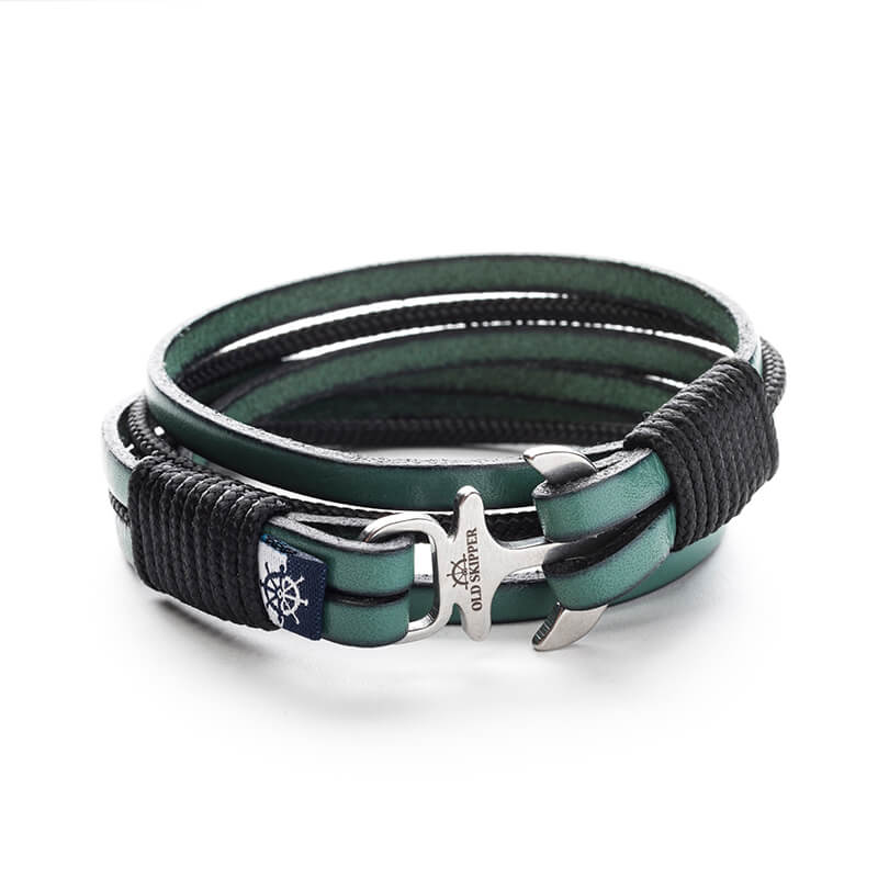 Anchor Leather Bracelet LER - Old Skipper