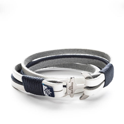 Anchor Leather Bracelet TANGAROA - Old Skipper