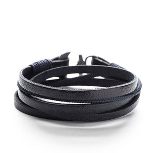 Anchor Leather Bracelet POSEIDON - Old Skipper