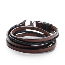 Anchor Leather Bracelet NEPTUNE - Old Skipper