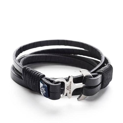 Anchor Leather Bracelet NODENS - Old Skipper