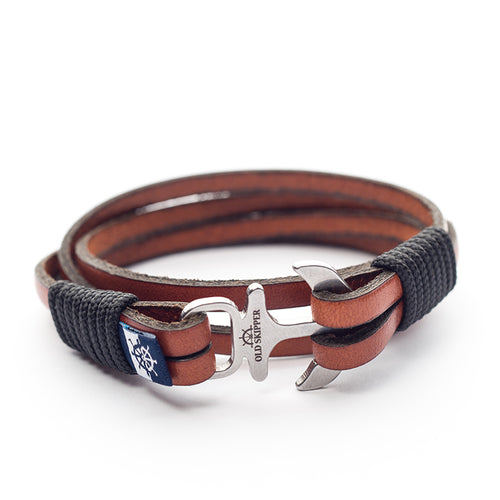 Anchor Leather Bracelet AHTI - Old Skipper