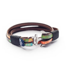 Anchor Leather Bracelet NAR - Old Skipper