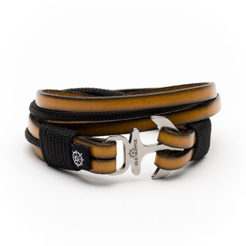 Anchor Leather Bracelet NEHALENNIA - Old Skipper