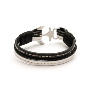 Anchor Leather with stitching Bracelet ECLIPSE - Old Skipper