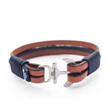 Anchor Leather Bracelet MAGNUS - Old Skipper
