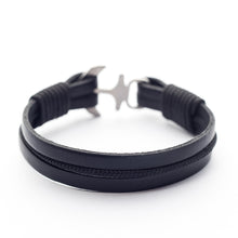 Anchor Leather Bracelet HARALD - Old Skipper