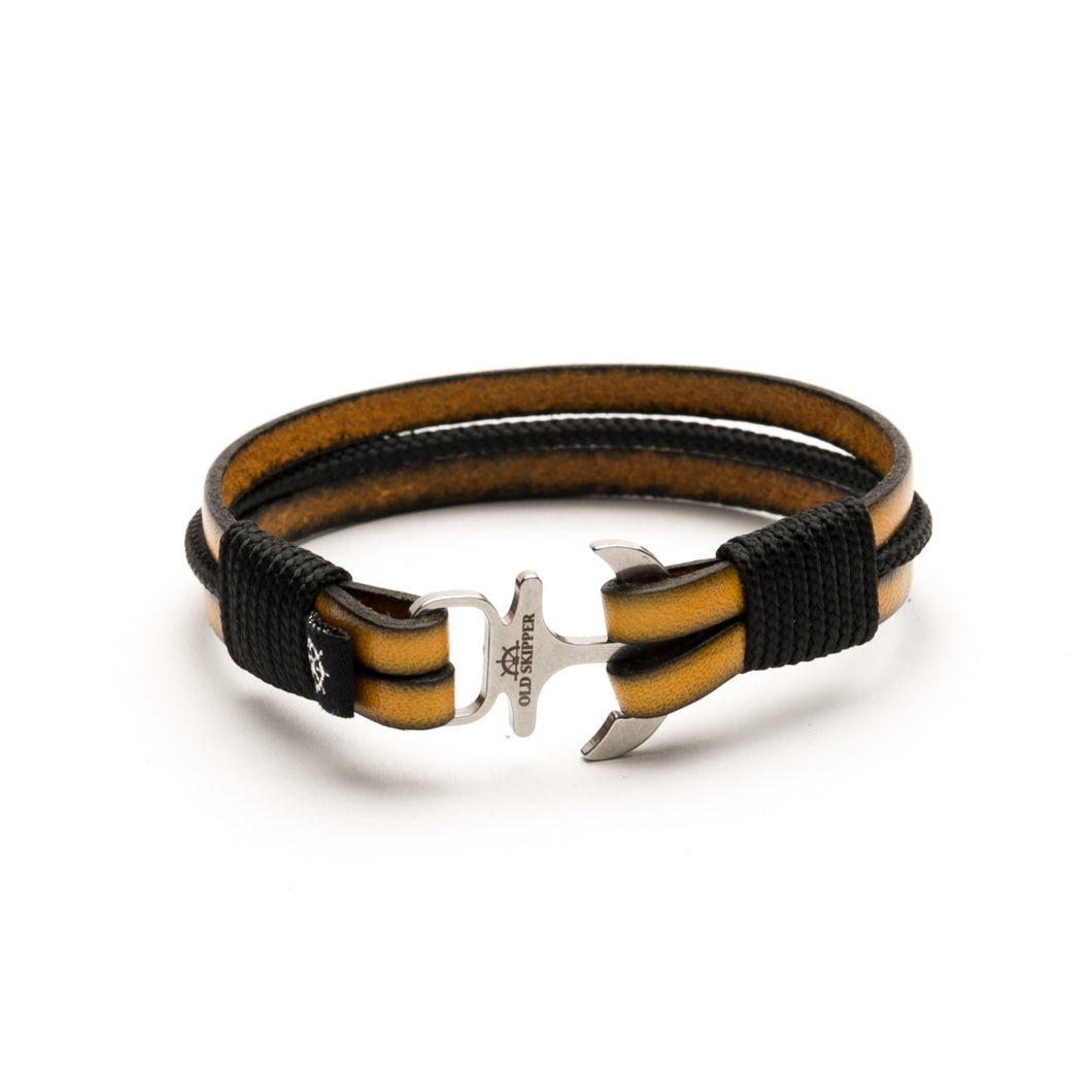 Anchor Leather Bracelet RAGNAR - Old Skipper
