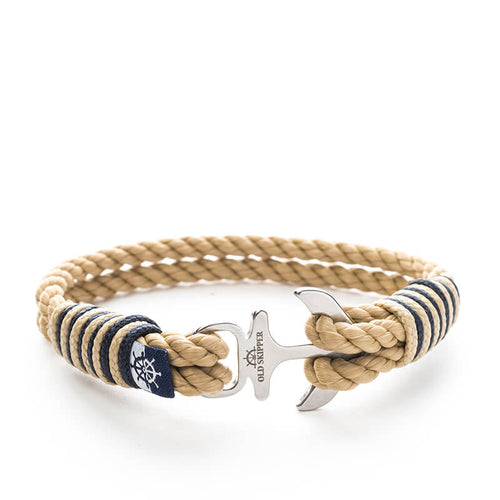 Anchor Nautical Rope Bracelet BLANCO - Old Skipper