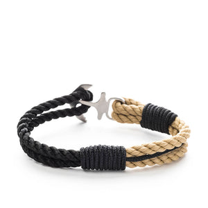 Anchor Nautical Rope Bracelet BLACKBEARD - Old Skipper