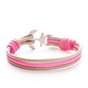 Anchor Nautical Rope Bracelet ROSE - Old Skipper