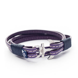 Anchor Leather with stitching Bracelet SYRENKA - Old Skipper