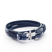 Anchor Leather with stitching Bracelet LORELEI - Old Skipper