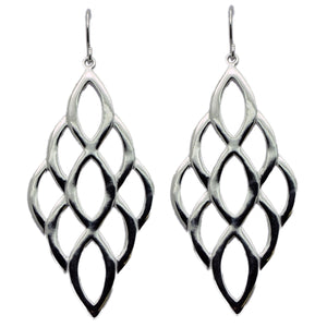 Sterling Silver Dangle Honeycomb Earring