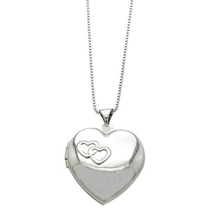 Linked Hearts Locket Necklace