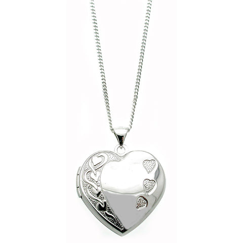 Three Hearts Together Locket Necklace