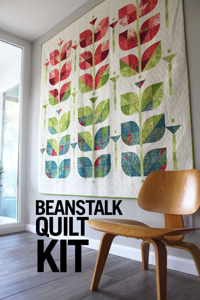 A QUILT KIT of BEANSTALK  in TWIN size in Painted Meadow fabric