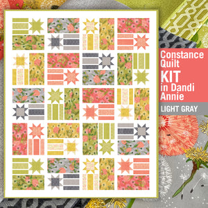 A QUILT KIT of CONSTANCE in DANDI ANNIE (light gray), Twin Size