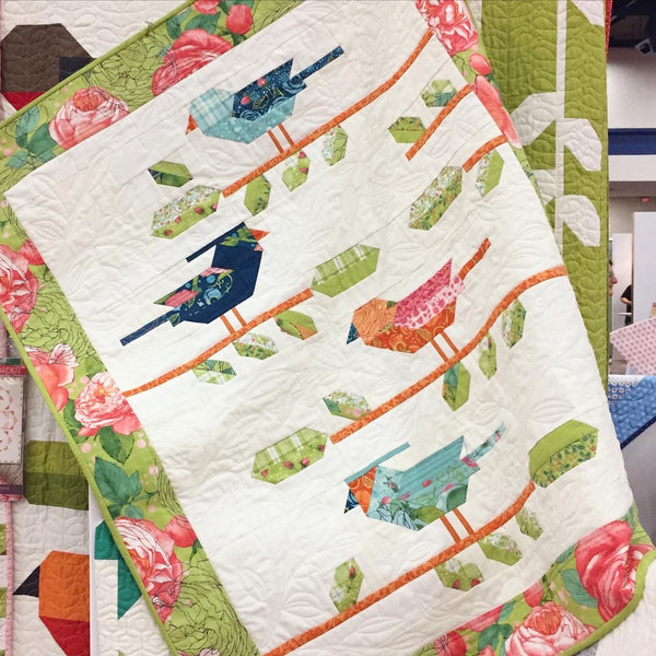 "LITTLE BIRD SONG Small Wall Quilt PRINTED BOOKLET by Robin Pickens 34"" x 43"""