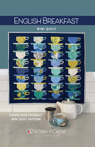 English Breakfast Mini Quilt Pattern, printed booklet by Robin Pickens