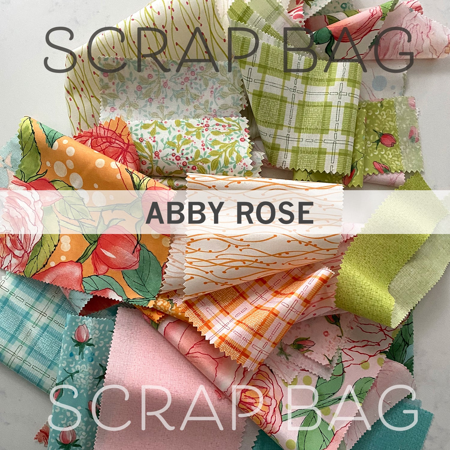 Scrap Bag of Abby Rose Quilting Fabric - Half Pound or more of Moda cotton fabric by Robin Pickens