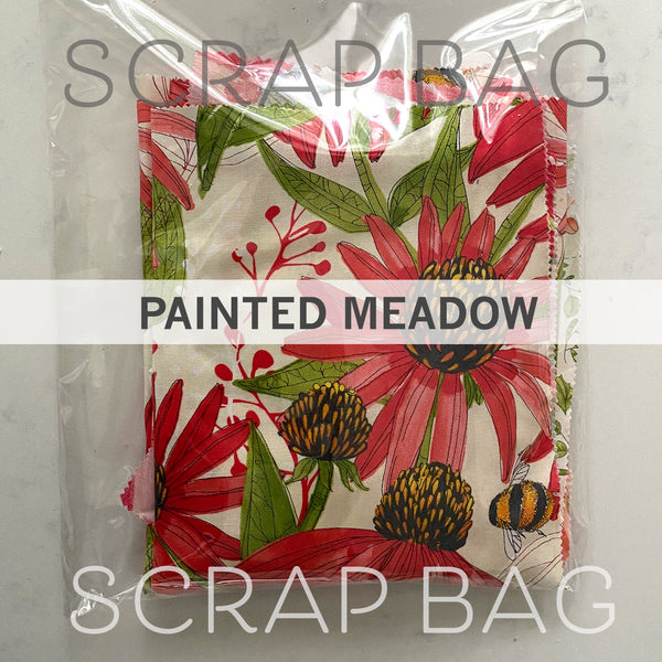 Scrap Bag of Painted Meadow Quilting Fabric - Half Pound or more of Moda cotton fabric by Robin Pickens