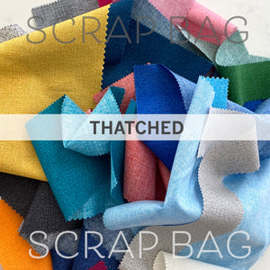 Scrap Bag of Thatched Quilting Fabric - Half Pound or more of Moda cotton fabric by Robin Pickens