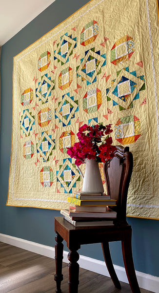 "FAIR and SQUARE Digital PDF Quilt Pattern by Robin Pickens / Layer Cake friendly /Square 71"" size"