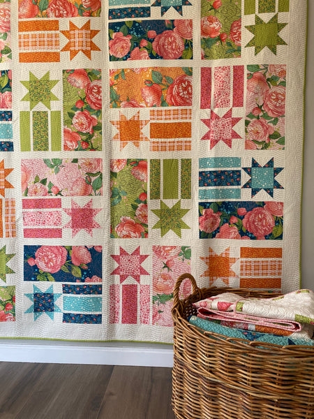 CONSTANCE Quilt Pattern (printed booklet) by Robin Pickens / Lap, Twin, Queen sizes